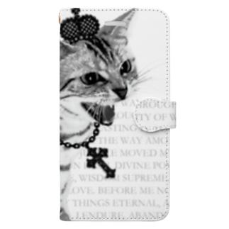 Lunatic Cat-ismのシャーという猫 Book-style smartphone case
