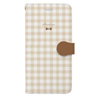 音楽用語とツートンチェック Book-style smartphone case