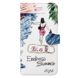 King.K 「私の夏-Endless Summer-」 Book-style smartphone case