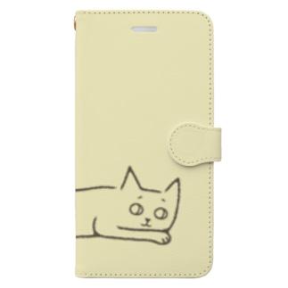 ヘンテコねこ Book-style smartphone case