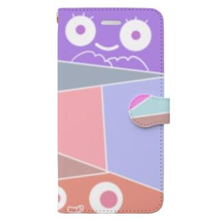 なつのすけのひょっこりモンスター Book-style smartphone case
