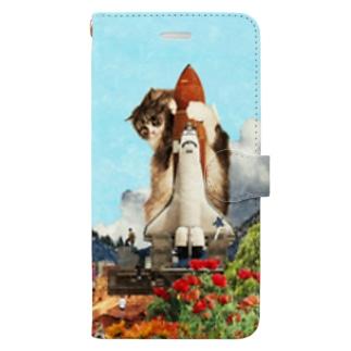 シャトル猫【WPC】 Book-style smartphone case
