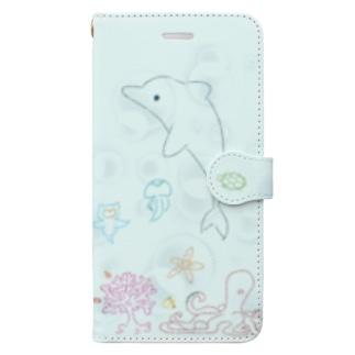 海いろの家族 Book-style smartphone case