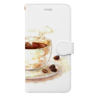 カフェの珈琲 Book-style smartphone case