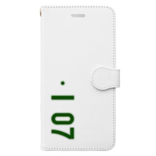 marikiroの0107_誕生日_記念日_ナンバープレート Book-style smartphone case