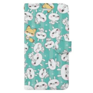 ひとえうさぎ Book-style smartphone case