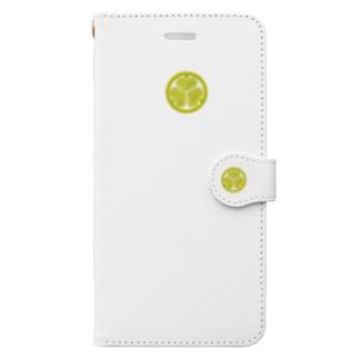 kamon 三つ葉葵 (徳川家)(スマホケース・手帳型) Book-style smartphone case