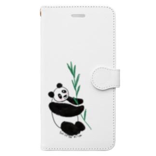 友人はパンダが大好き❤️ Book-style smartphone case