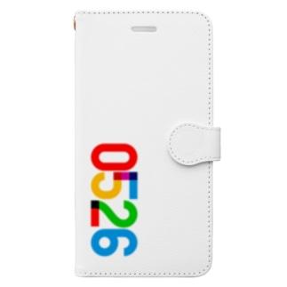 0526_誕生日_記念日_カラー Book-style smartphone case
