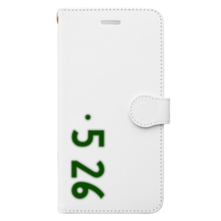 0526_誕生日_記念日_ナンバープレート Book-style smartphone case