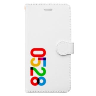 0528_誕生日_記念日_カラー Book-style smartphone case