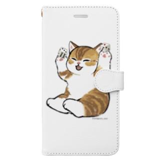 喜ぶ猫 Book-style smartphone case