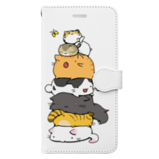 辛口ムースのねこたわー Book-style smartphone case