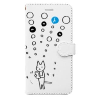 tanka/スマホねこ 手帳型スマートフォンケース