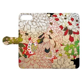菊花 Book-style smartphone case