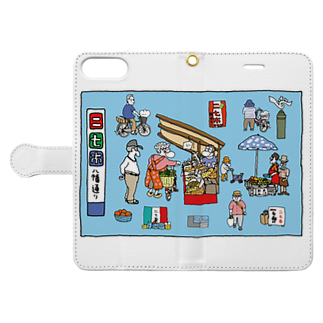 LSC☆SHOPのぶらり岡崎1 Book-style smartphone caseを開いた場合(外側)