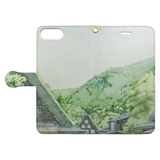 白川郷 Book-style smartphone case