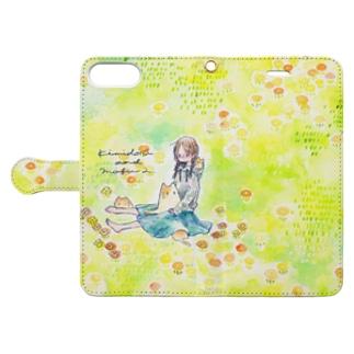 みつあみちゃんと花畑 Book-style smartphone case