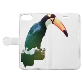 イケてるオニオオハシレインボー Book style smartphone case