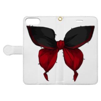 セーラー服は永遠 - 黒×赤 Book-style smartphone case