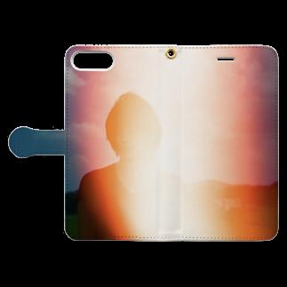 彩雪の感光 Book style smartphone caseを開いた場合(外側)