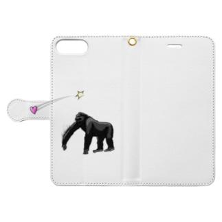 愛を届けるゴリラ Book-style smartphone case