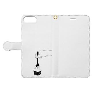 たぬきケーキめぐり公式 Book-style smartphone case