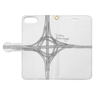 タービン型インターチェンジ Book style smartphone case