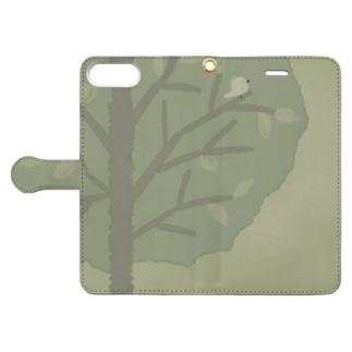 木のぬくもり 手帳型スマートフォンケース
