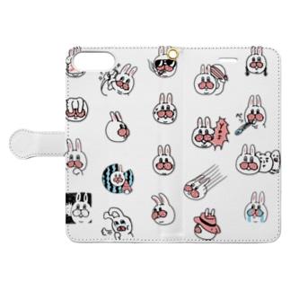 うさぎのササキづくし Book style smartphone case