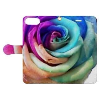 レインボーローズ Book-style smartphone case