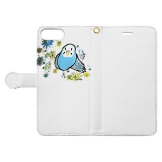 インコ すさー 萌え Book-style smartphone case