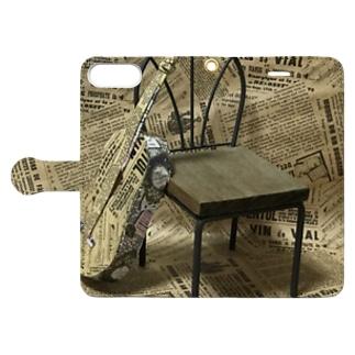 ギターを包装紙で Book-style smartphone case