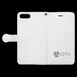 OWLCOIN ショップのIOTA アイオータ Book-style smartphone caseを開いた場合(外側)