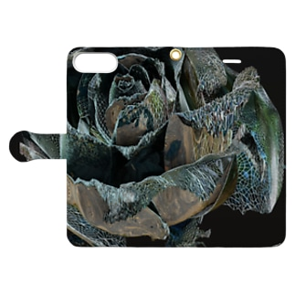 BLACK ROSE ONE - up Book style smartphone case