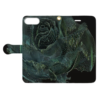 BLACK ROSE ONE - wir - up Book style smartphone case