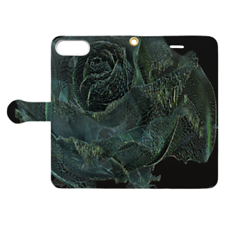 ARTLyのBLACK ROSE ONE - wir - up Book-style smartphone caseを開いた場合(外側)