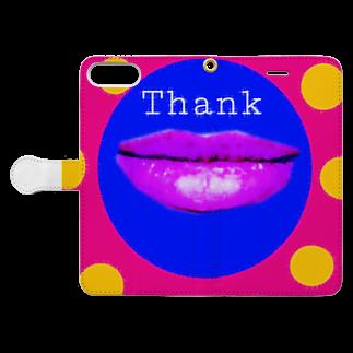 317_mのThank  Book-style smartphone caseを開いた場合(外側)