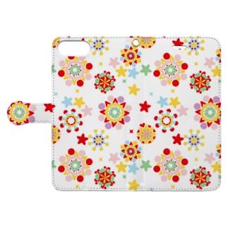 万華鏡柄手帳スマホケース Book-style smartphone case