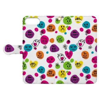 フェイス柄手帳スマホケース Book-style smartphone case