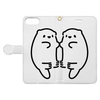 らっこ?たち Book-style smartphone case