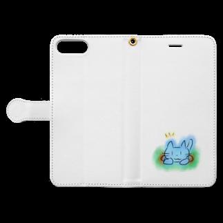 魚風商店のネコのすみか Book-style smartphone caseを開いた場合(外側)