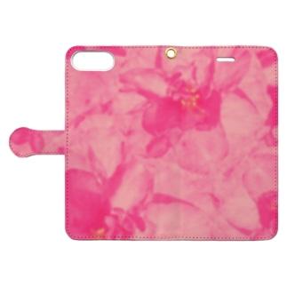 重なりお花 Book-style smartphone case