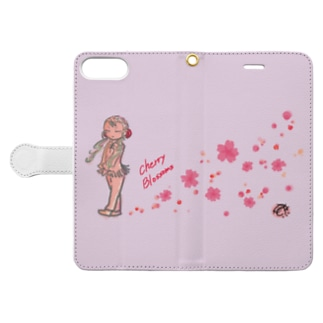 Cherry Blossoms Book-style smartphone case