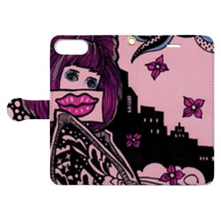 口は災いの元 Book-style smartphone case