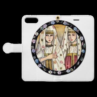 上/うえのトヴェリの女たち Book-style smartphone caseを開いた場合(外側)