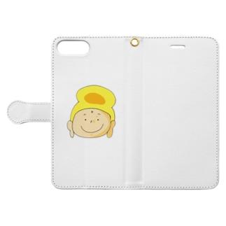 ほうじゅうじほとけさまスマートフォンケース Book-style smartphone case