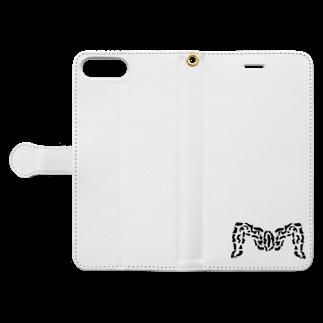 ましゅまろちゃんこうぼ~の古代ローマのM字開脚(まんこ) Book-style smartphone caseを開いた場合(外側)