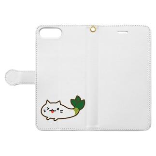 たのちい下仁田ネギねこ  Book-style smartphone case