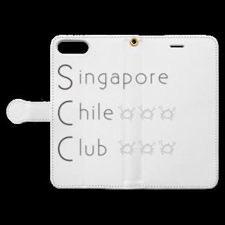 シンガポールチリクラブのグッズのシンガポールチリクラブ Book-style smartphone caseを開いた場合(外側)